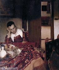 Johannes Vermeer A maid asleep Giclee Canvas Print