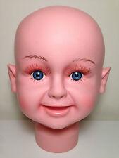 Durable plastique bébé enfants mannequin tête mannequin présentoir foulards perruques chapeaux