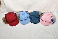 CROWNCAP BASEBALL CAP HAT REAL RABBIT FUR WOMENS