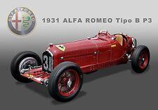 1931 Alfa Romeo Tipo B P3 Formula 1 Grand Prix Vintage Race Car Photo CA0558)