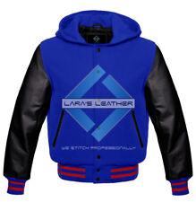 American College Coat Varsity Men Hoodie Wool & Black Genuine Leather Sleeves