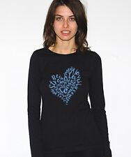 NEWTG American Apparel DIY yoga Love Heart shirt top