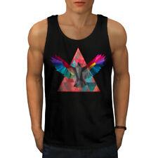 Wellcoda Geometric Bird Fashion Mens Tank Top, Bird Active Sports Shirt