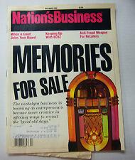 Nation's Business Magazine Memories For Sale! December 1989 053112R1