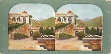 CAMPA SANTO stereoscopic card GENOA Italy dome view