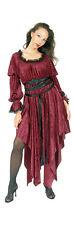 Eternal Love Red Ophelia Velvet Renaissance Medieval Dress XS-XL 1X 2X Plus Size