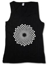 SPIRAL DOTS DAMEN TANK TOP Hypno Labyrinth Mystic Hypnose Kreisel Spirale