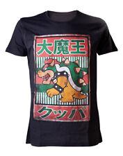SUPER MARIO T-shirt noir Bowser Kanji Homme Noir