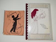 2 SPIRAL ALLENTOWN SYMPHONY ORCHESTRA COOKBOOKS FUNDRAISER CIRCA 1950'S & 1980'S