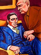 THE GODFATHER PRINT poster part I vito corleone marlon brando pacino mafia wine