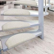 15er Set Shaggy Stufenmatten Stufenmatte Stufenschoner Treppenschutz Weiss