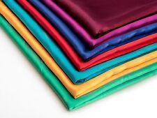 Stoff Satin Ohne Lycra 120g/m² in 47 Farben 3 € für 1 Meter(EC112)
