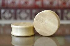 Pair of Bamboo Wood Organic Saddle Plugs 6mm - 28mm PAIR