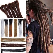 "20""Ombre Braid Dreads Dreadlocks Hair Extensions Womens African as human hair US"