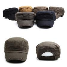 3~7 Years Kids Boys Girls Vintage Style Velcroed Cadet Military Hats Trucker Cap