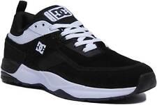 DC Shoes E Tribeka Men Nubuck Leather Trainers In Black White Size UK 6 - 12