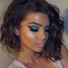 Curly Wavy Full Head Wig 100% Real Peruvian Human Hair Wigs For Black Women dg11