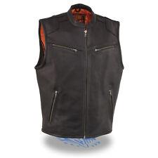 Milwaukee Men's Zipper Front Vest w/ Cool Tex® Leather W/ Gun Pockets *MLM3502*