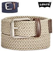NWT LEVI'S Boys Navy or Khaki Braided Batwing Belt(Sizes L, XL) NEW