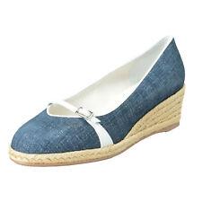 """Salvatore Ferragamo Women's """"AUDREY"""" Leather Wedges Pumps Shoes 8C 9C 9.5C"""