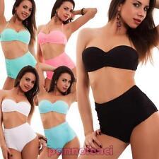 Bikini femme maillot de bain bande-écharpe taille haute '50 broches up