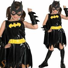 Girls Deluxe Batgirl Costume Superhero Batman Kids Fancy Dress Halloween Outfit