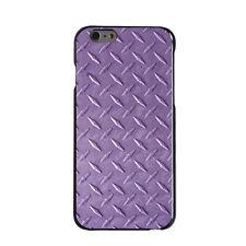 Hard Case Cover for iPhone 5 5S SE 6 6S 7 PLUS Purple Diamond Plate Steel