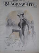 MADAME A LA MODE Alexander popini 1903 vecchia stampa a colori