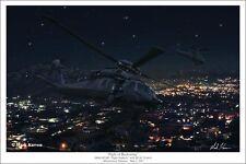 """Night of Reckoning"" Mark Karvon 30"" Print - Osama Bin Laden Raid - SEAL Team"