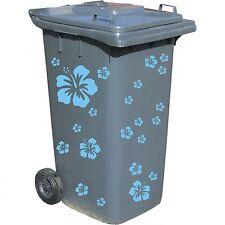 Mülltonne Mülltonnenaufkleber Aschentonne Mülltonnensticker Hibiskus Blume w522