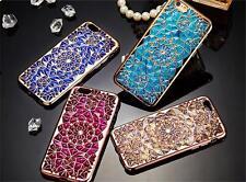 3D CRYSTAL SOFT DIAMOND BLING TPU GEL CASE FOR APPLE iPHONE MODELS
