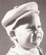 Vintage Knitting PATTERN to make Baby Boy Visor Cap Hat JackHorner