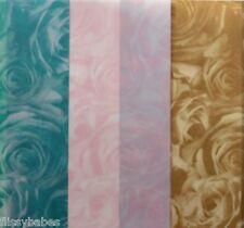 2 X A4 Blätter Standard Rosen Pergament 112gsm Blaugrün/Altgold/ Rosa Neu