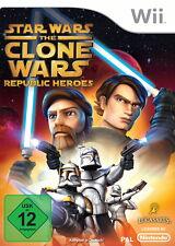Star Wars: The Clone Wars - Republic Heroes (Nintendo Wii, 2009, DVD-Box)