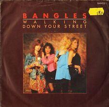 "BANGLES walking down your street 7"" PS EX/VG sticker on sleeve uk cbs BANGS 1"