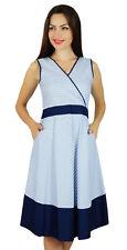 Bimba Womens Formal Wear Poly-Cotton Shift Dress With Pockets Sleeveless Work We