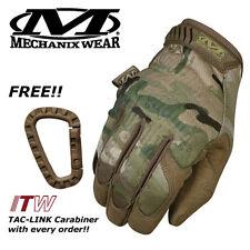 Mechanix Original Multicam Camo Gloves ***Free Genuine ITW TacLink Carabiner***