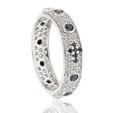 Anelli rosario in argento 925 rodiato o placcato oro giallo o rosa con zirconi