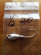 20 1/2oz Ultra Minnow Jigs on Eagle Claw 635 Saltwater 2/0  3/0  4/0  Hooks