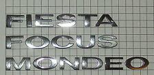 Genuine Ford solo dígito de carta de cromo-Fiesta Focus Zetec S llama estilo Ghia