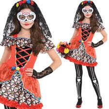 Niña Calavera Disfraz de Halloween Día de los Muertos