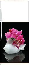 Adesivo frigo elettrodomestici decocrazione cucina Orchidea conchiglia 60x90cm