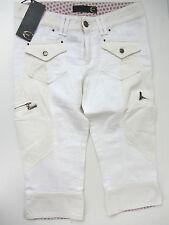 Just Cavalli Damen Caprijeans Hose Jeans Pantalon Weiss Neu 34 Uvp 249€