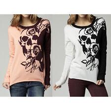 Fox Women's Runaway Sweater Orange Sherbert Heather Pearl $60 Retail NWT D13