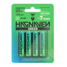 HAGNAVEN® GREEN NI-MH aufladbare AA & AAA Akku Batterien | sofort einsetzbar