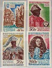 Dahomey 1970 422-25 U 271-74 ships King ALKEMY Luigi XIV 300th Ann DIP. missione