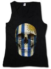 Classic Uruguay Skull Flag donna Tank Top Bandiera Teschio Bandiera Banner
