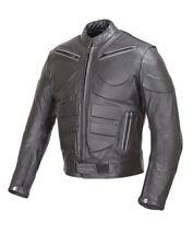 Men Motorcycle Biker Armor Leather Jacket by WICKED STOCK Black  MBJ009