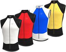 Mens Sleeveless Cycling Jersey Team Racing Cycle Top Breathable Biking Shirt