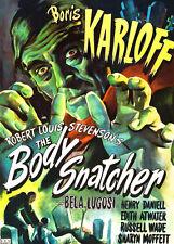 Boris Karloff The Body Snatcher T-Shirt 12 Sizes. Classic Vintage Horror Movie